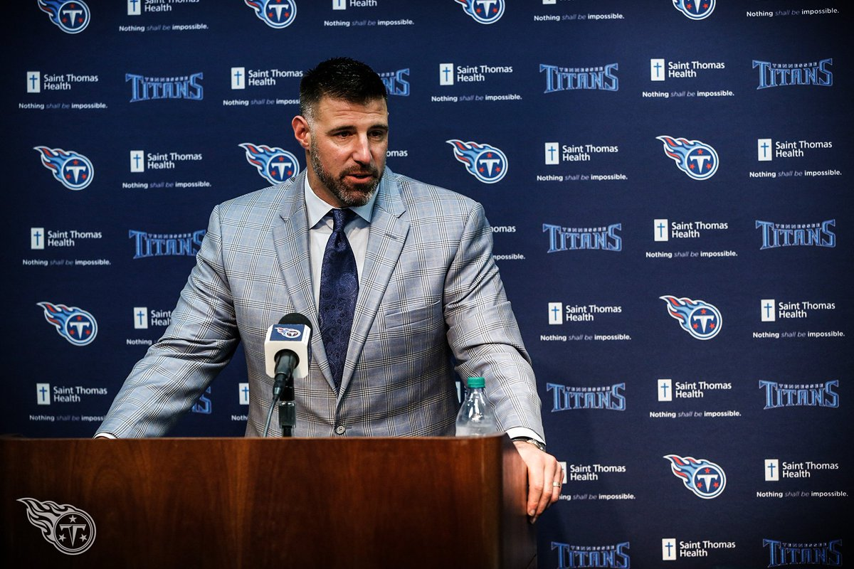 """Vrabel wants to take the Titans to """"the next level."""" #TitanUp   Vrabel's Vision 📰 » https://t.co/P5Jagg2j5J https://t.co/3Ti3HqDXGE"""