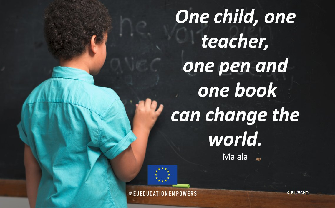 "test Twitter Media - ""One child, one teacher, one book, one pen can change the world"" -- @Malala  EU-funded #education projects around the world empower children caught up in emergencies: https://t.co/5bvBxy6Uzl #EUEducationEmpowers https://t.co/RjeOFH6Mhx"