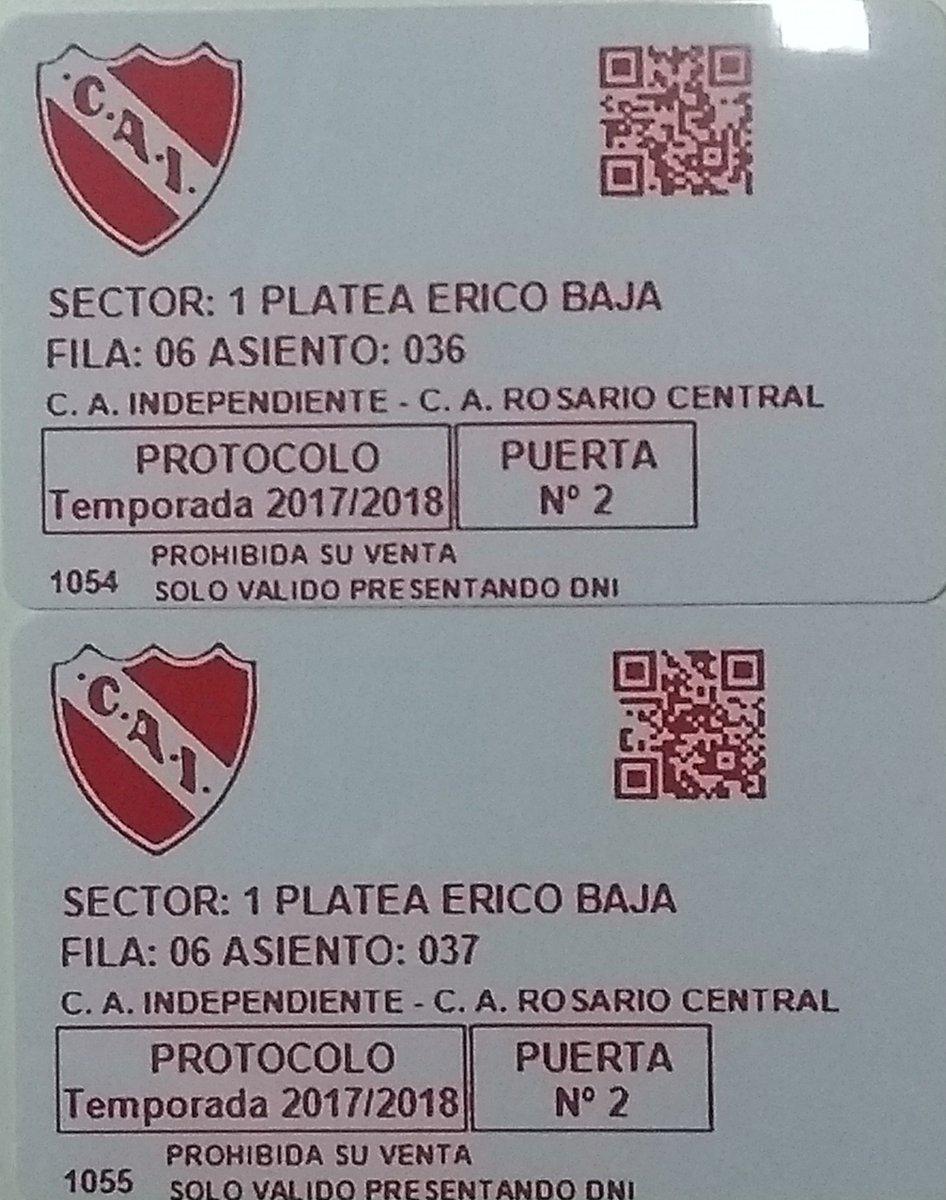 RT @MuyCAI: Con tu RT, participas por un par de plateas para Independiente - Rosario Central. https://t.co/D1f70fzeW2