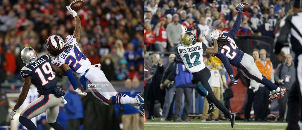 Patriots CB Stephon Gilmore made identical play to the 4th & 14 vs. Jags, against the Patriots in 2015 at Gillette Stadium https://t.co/wGoa7CyNgG https://t.co/ysRh12an60