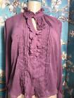 Worthington M 2 PC Purple Set Button Down Sheer Ruffle Lace Long Sleeve Shirt Why pay more https://t.co/2npBRTFeaq https://t.co/JZg6s7poAe