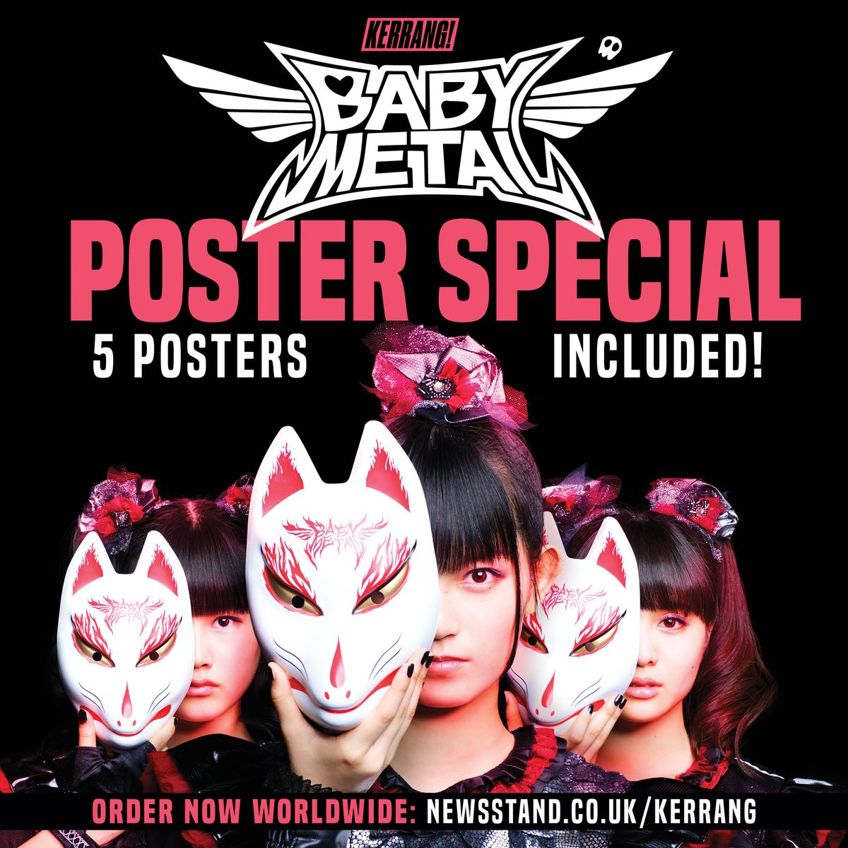 And there's a @BABYMETAL_JAPAN poster special! Available worldwide through @Newsstand_UK. https;/...