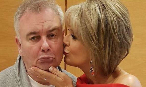 Eamonn Holmes forced to miss the National Television Awards due to illness as he poses next to glamorous wife Ruth Langsford in his dressing gown
