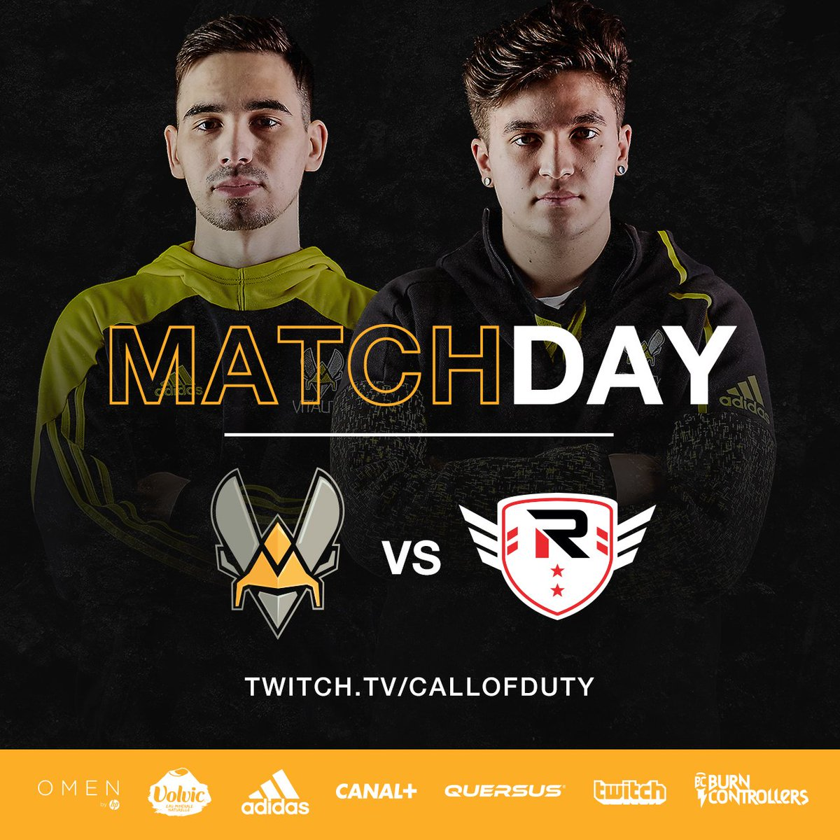 We're opening the Call of Duty @CODWorldLeague tonight at 22h/10PM (Paris time) vs. @TheRiseNation. Make sure to tune in and support the squad #VforVictory https://t.co/vvvp2EDmoa