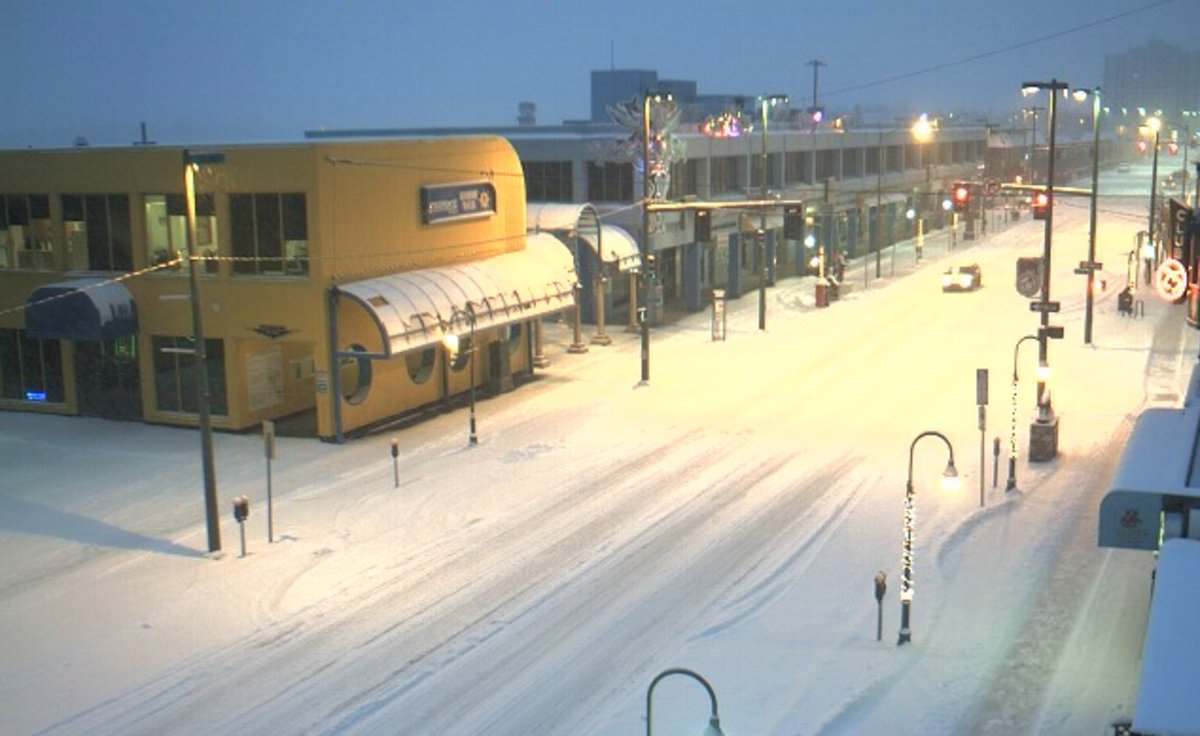 Up to 4 inches of snow forecast for Tuesday in Southcentral Alaska