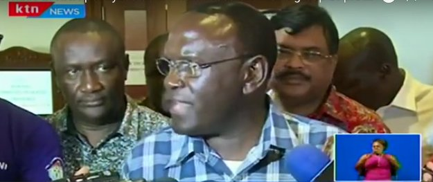 Services at KNH paralyzed as workers faced off with a group of protesting activists