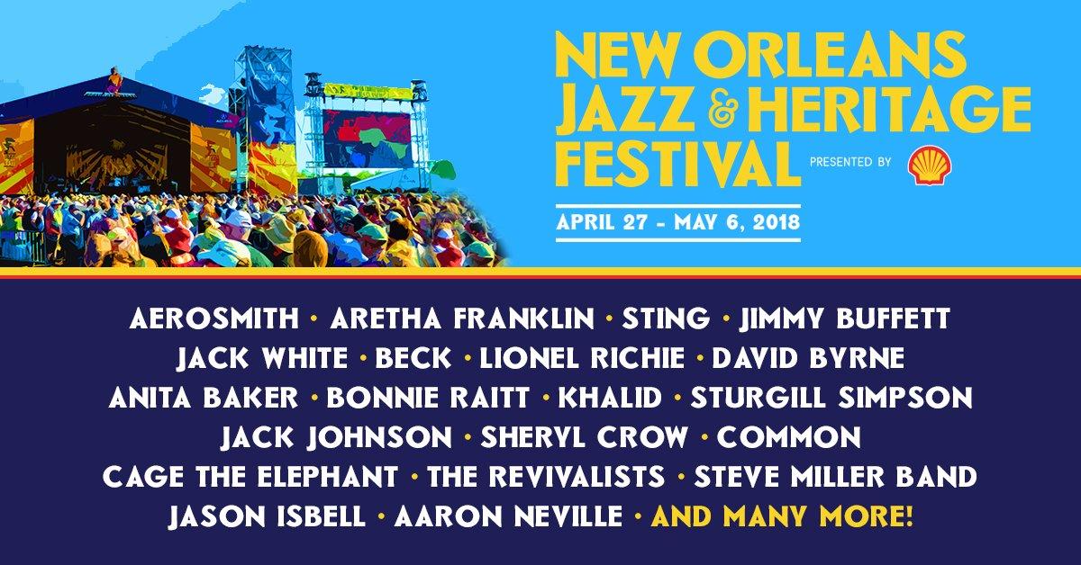 New Orleans Jazz Fest 2018 >> New Orleans Jazz Fest 2018 Lineup Reveal