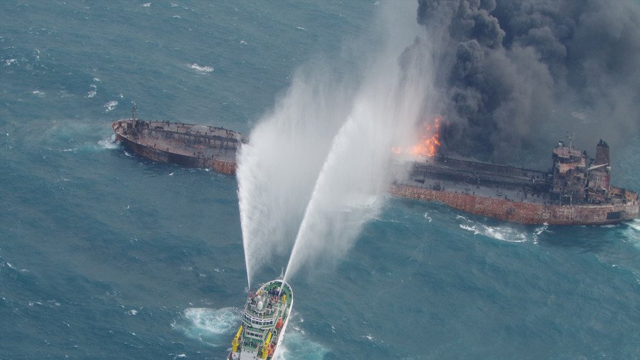 Toxic oil slick trebles in size as Chinese robots find gaping hole in sunken Iranian tanker