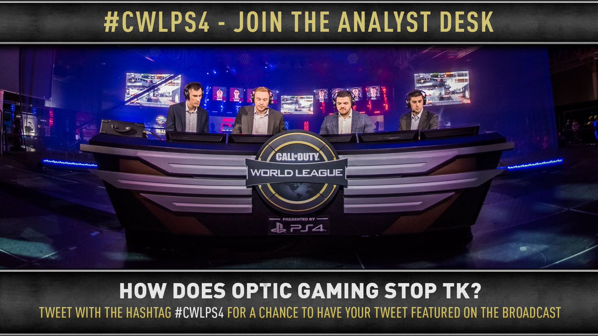 Join the Analyst Desk: How does @OpTicGaming stop @TeamKaliber?  Tweet us with the hashtag #CWLPS4 for a chance to be featured on broadcast! https://t.co/tvClUYmEKW