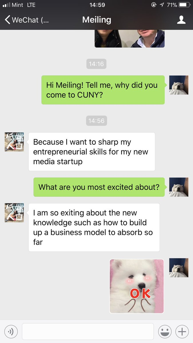 You can take a journalist out of China, but it's hard to separate them from good ole WeChat! #EJ18 https://t.co/8qUrZts3Np