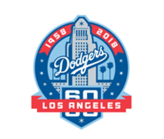 #Dodgers unveil 60th anniversary logo that will be worn as a patch on uniform this season. https://t.co/iaEDgCP0sl