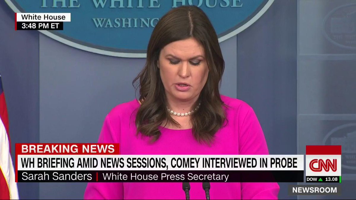 White House press secretary Sarah Sanders is holding a press briefing. Watch CNN: