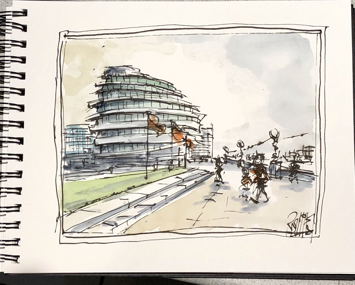 RT @RoyLilley: City Hall London, watercolour and ink on laper https://t.co/NaDuXKFNBO