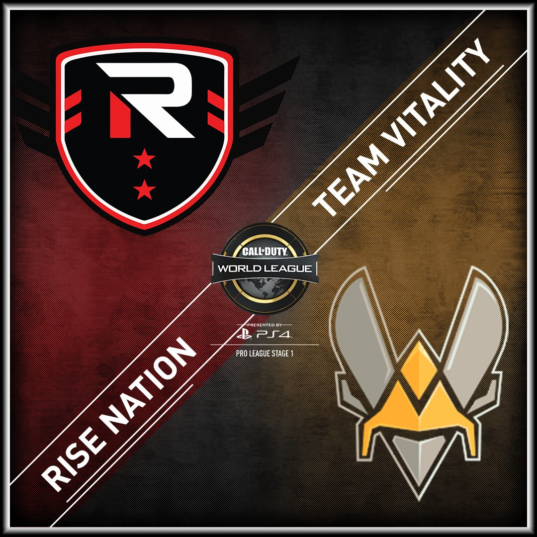 Welcome to #CWLPS4 Pro League Stage 1! Our first match: @TheRiseNation vs @Team_Vitality https://t.co/NKHQSgV6Gh https://t.co/MMbtVdt428