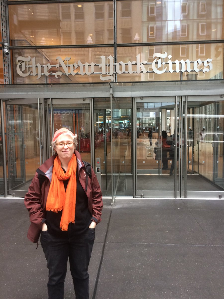Portrait in front of the @nytimes headquarters, courtesy of @hershpatel91 #Ej18 https://t.co/odiHZCbRQ9
