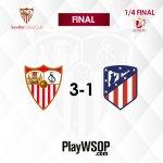 Final del partido en Nervión #SevillaFC 3-1