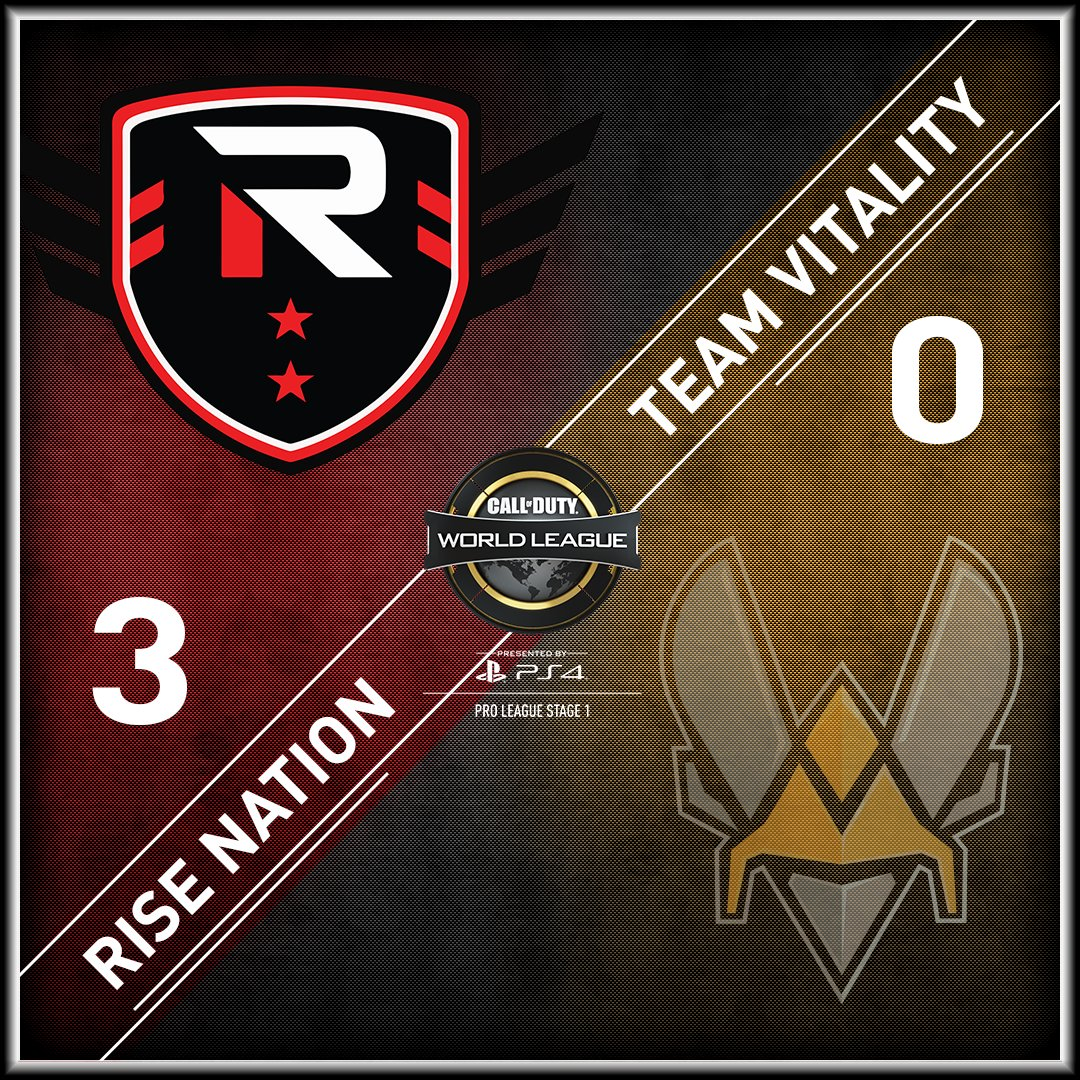 .@TheRiseNation open #CWLPS4 Stage 1 with a 3-0 sweep of @Team_Vitality! https://t.co/NKHQSgV6Gh https://t.co/YP0UnWGKU2