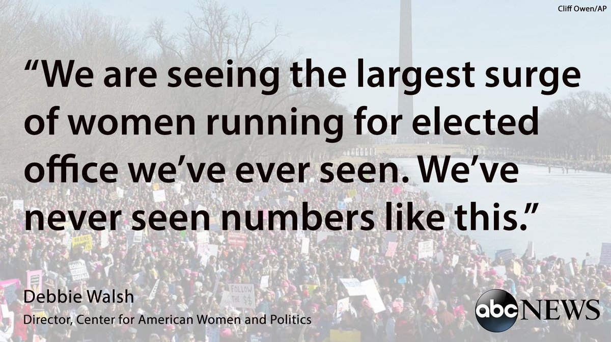 "In this year's ""pink wave,"" women are helping other women run for office."