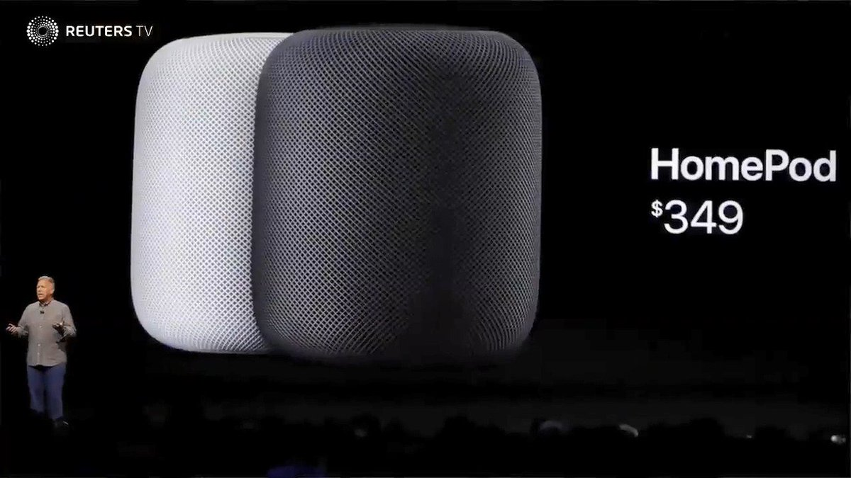 WATCH: Apple launches HomePod, taking on Google, Amazon via @ReutersTV $AAPL $GOOGL $AMZN