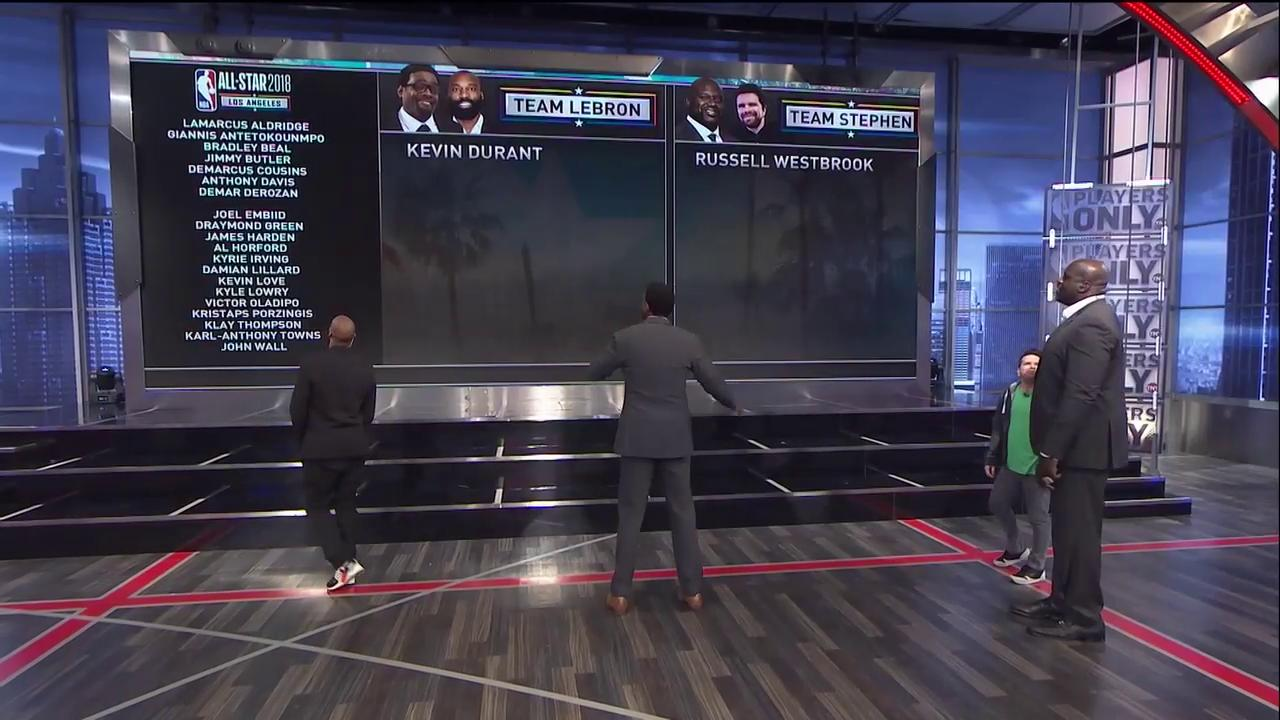 The #PlayersOnly crew had its own #NBAAllStar Draft.   Who you got: Team LeBron or Team Stephen? �� https://t.co/rF4Rvk86iW
