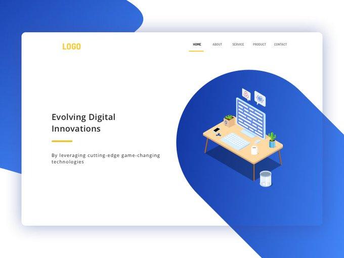 Landing Page by satheesh_design freebie