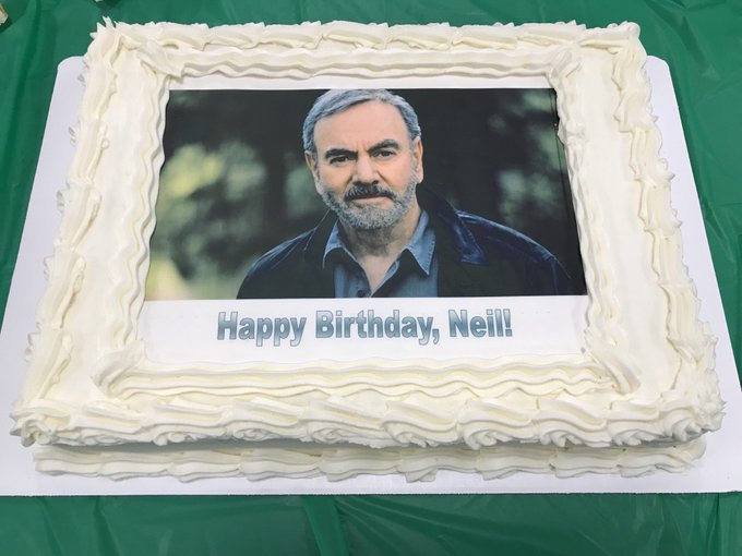 Two schools... Two cakes ! Happy Birthday Neil Diamond  !