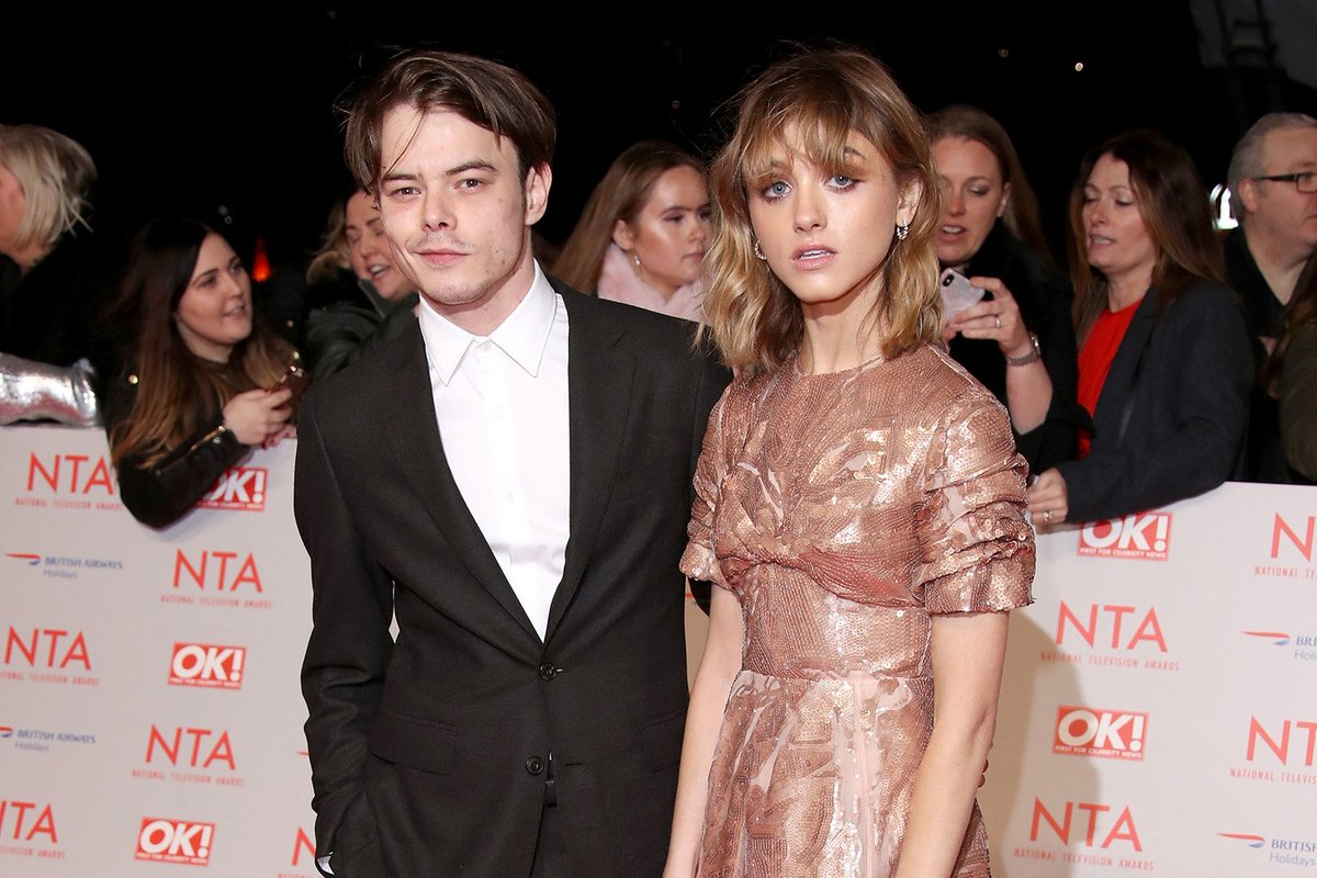 Cute. Much! 'Stranger Things' Couple Natalia Dyer and Charlie Heaton Hit NTA Awards