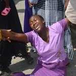 Squatter faints during a protest outside Joho's office