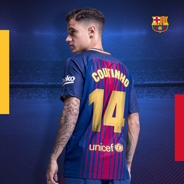 RT @FCBarcelona: Suits you, @Phil_Coutinho! ???????? #Coutinho14 https://t.co/sVG1h7kuKJ