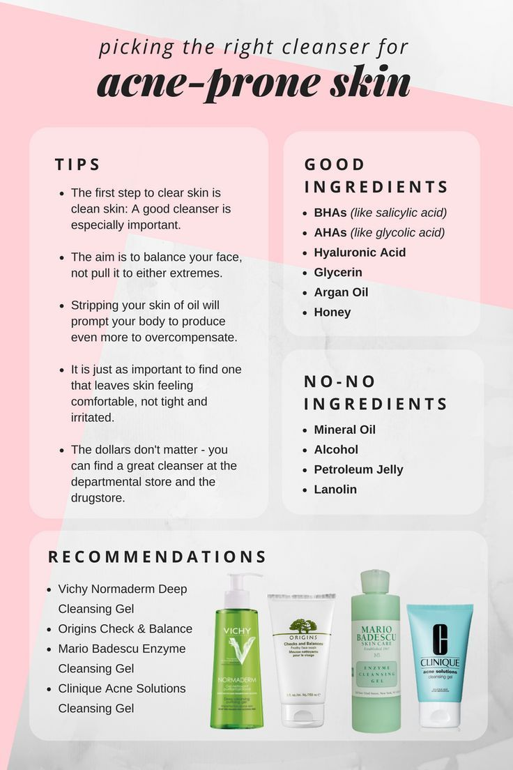 How to choose the best cleanser for acne-prone skin! #TheBeautyAddict......