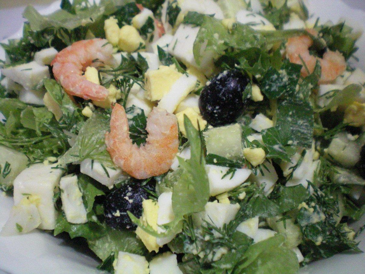 Салат с креветками для беременных 93