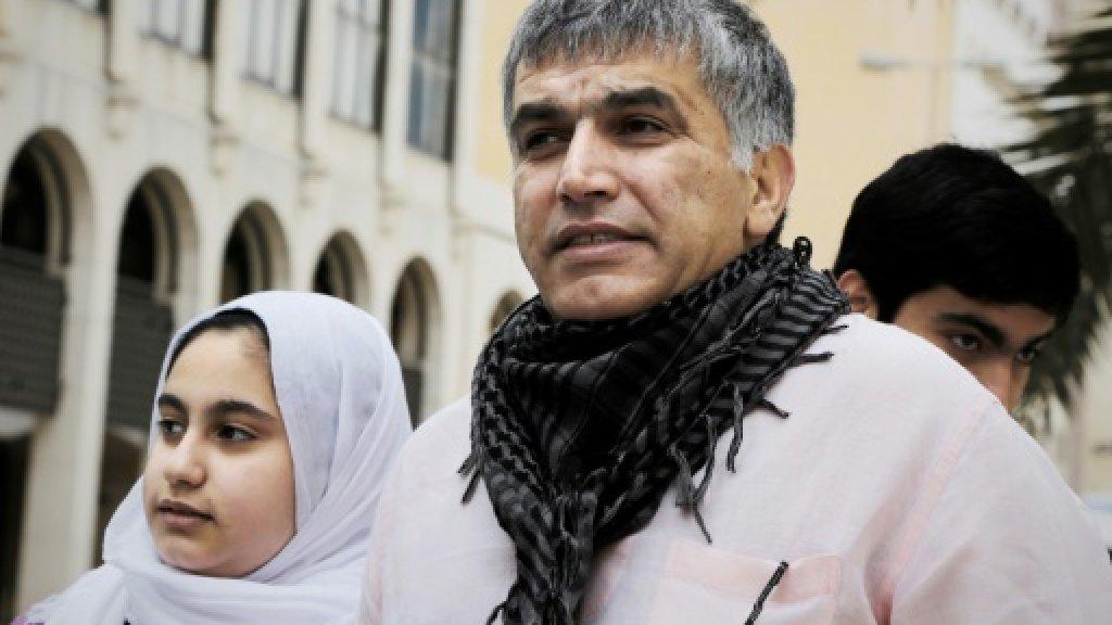 Rights groups fear for Bahraini activist Rajab's health