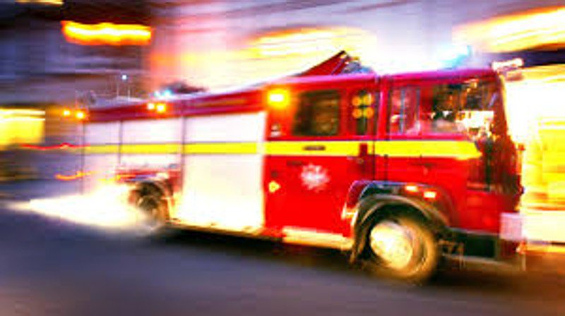 Child burned in pickup truck fire at gas station