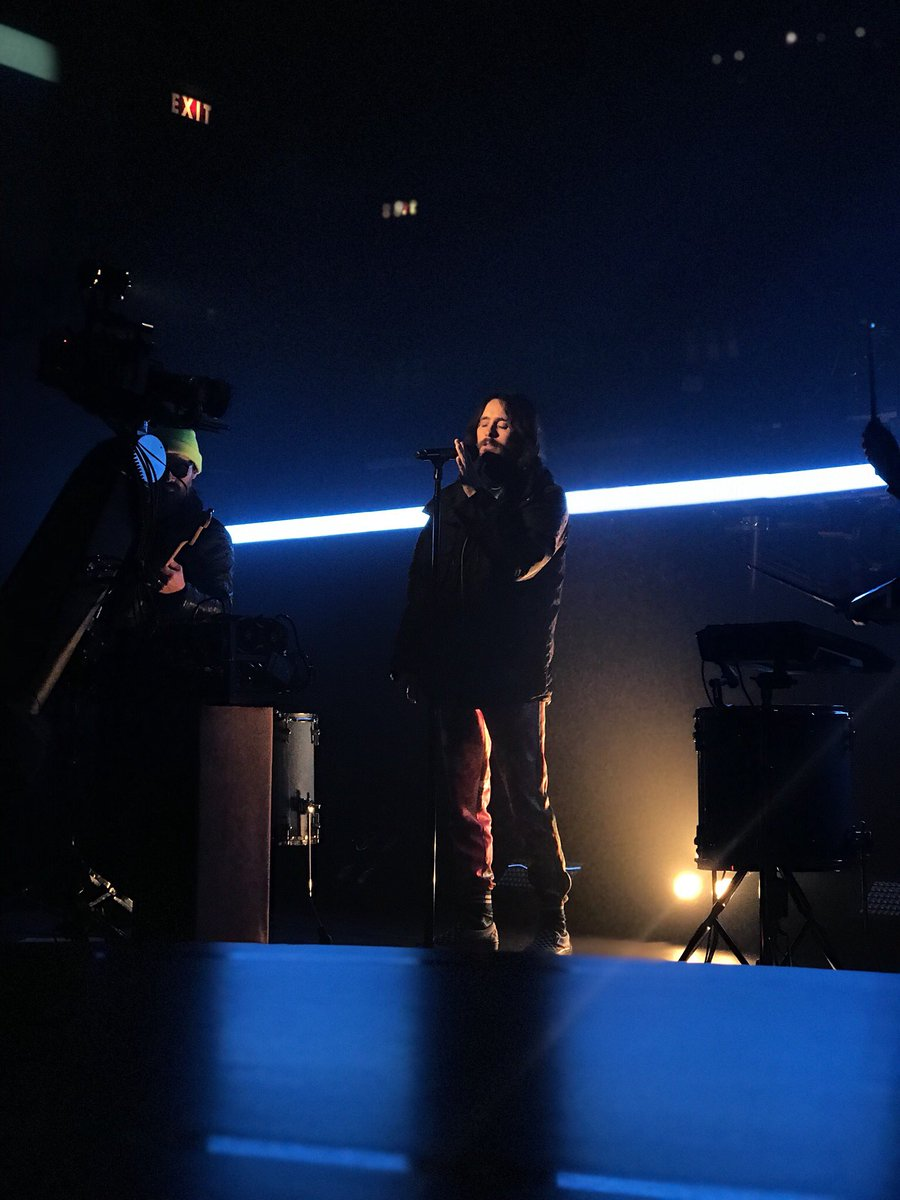 RT @colbertlateshow: Just watched the @30SECONDSTOMARS rehearsal. Guys. This performance is UNREAL. ???????????? https://t.co/LIsNW9TeHZ
