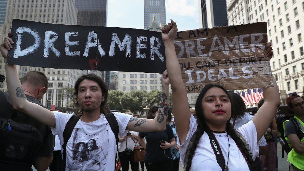 Trump immigration plan to offer citizenship to 1.8m 'Dreamers'