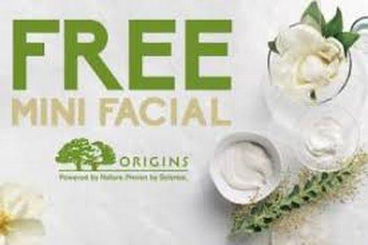 Free Origins Samples & Mini-Facial!!! natural naturalbeauty nature freebie