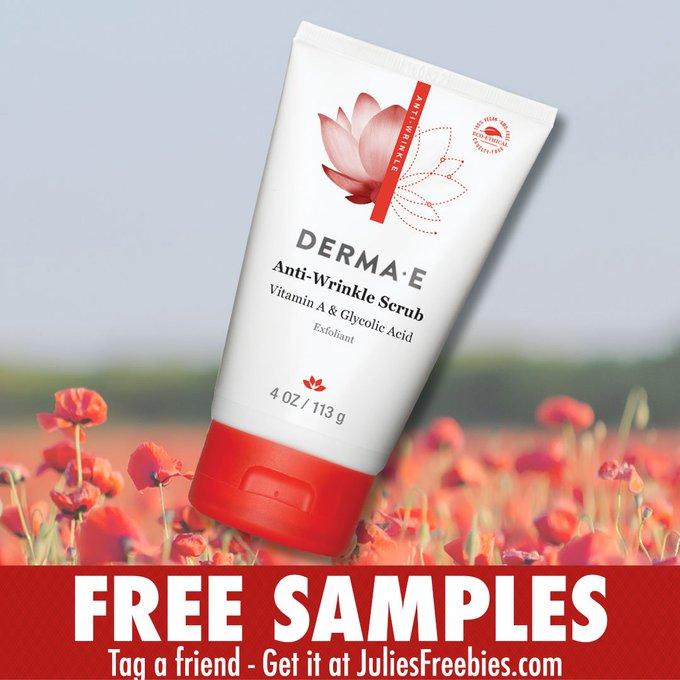Get a freebie Derma-E Anti Wrinkle Scrub! GO HERE ->