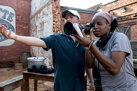 In honor of #femalefilmmakerfriday, here's a picture from the set of #Bessie with the amazing #DeeRees ???? https://t.co/a2ajcae3LI