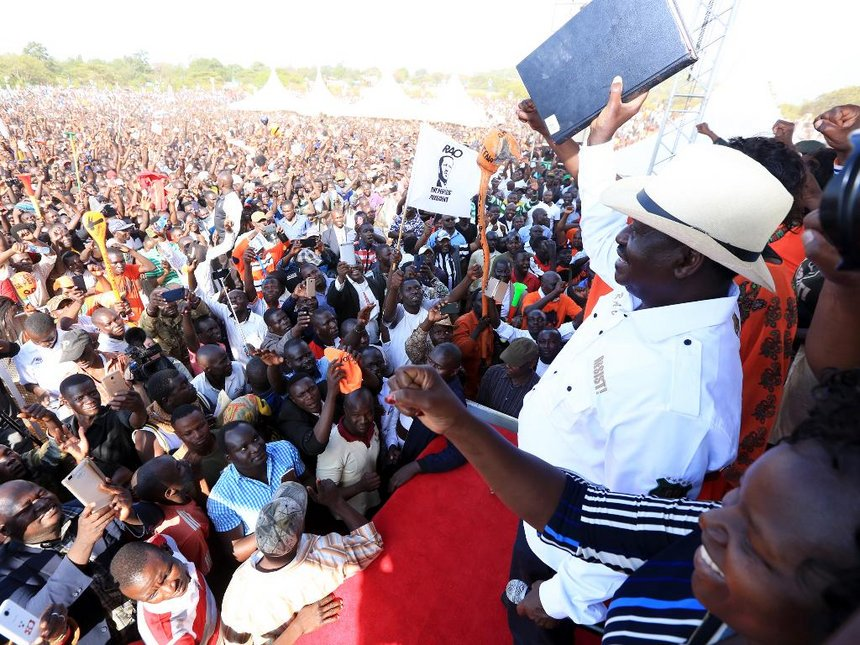 Oath is on, Raila says after pre-inauguration fanfair in Homa Bay