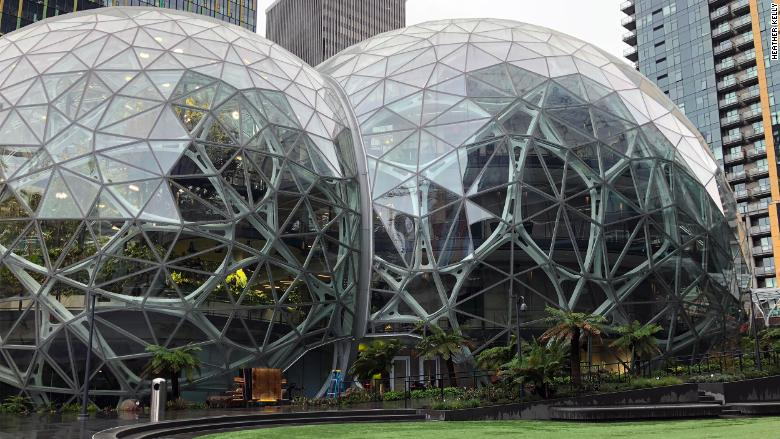 Amazon's new workplace perk, the Spheres, will officially open on Monday