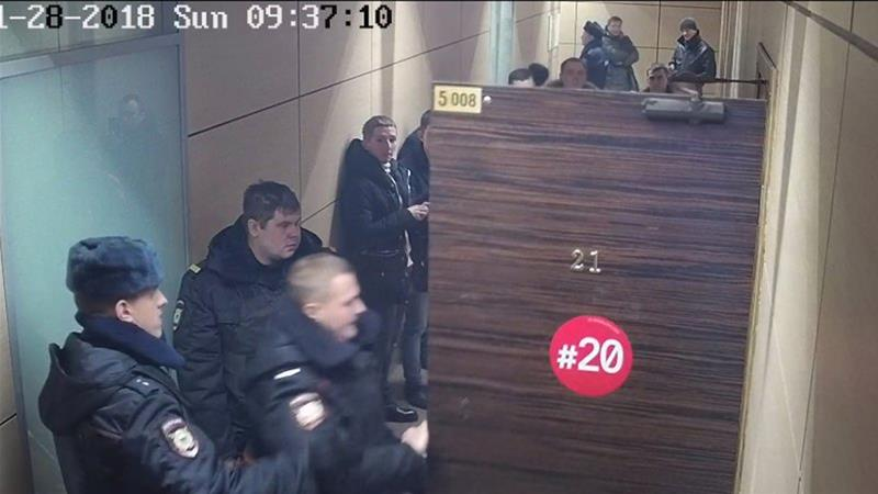 Russia police raid opposition leader Alexei Navalny's office amid protests