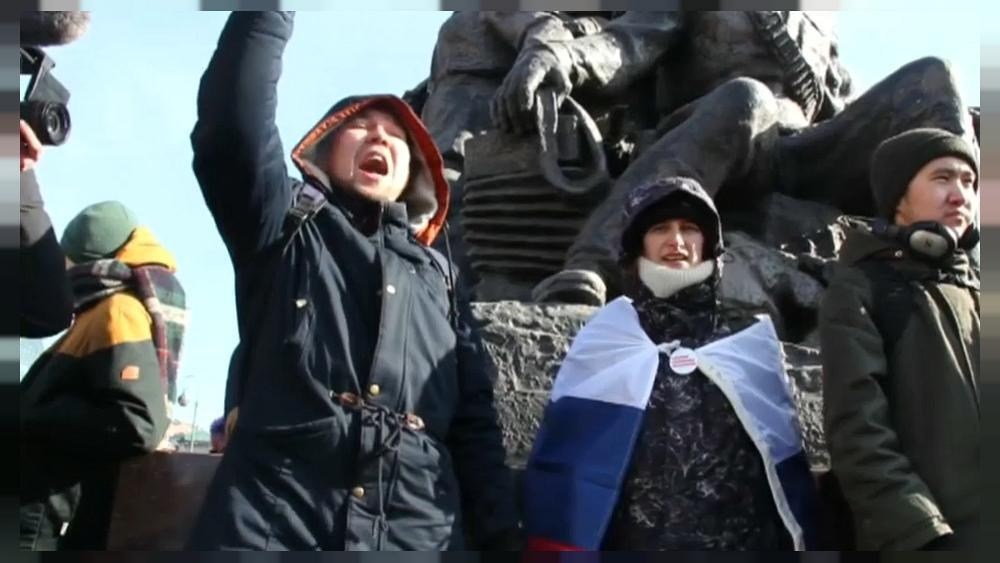 Pro-Navalny supporters protest in Russia