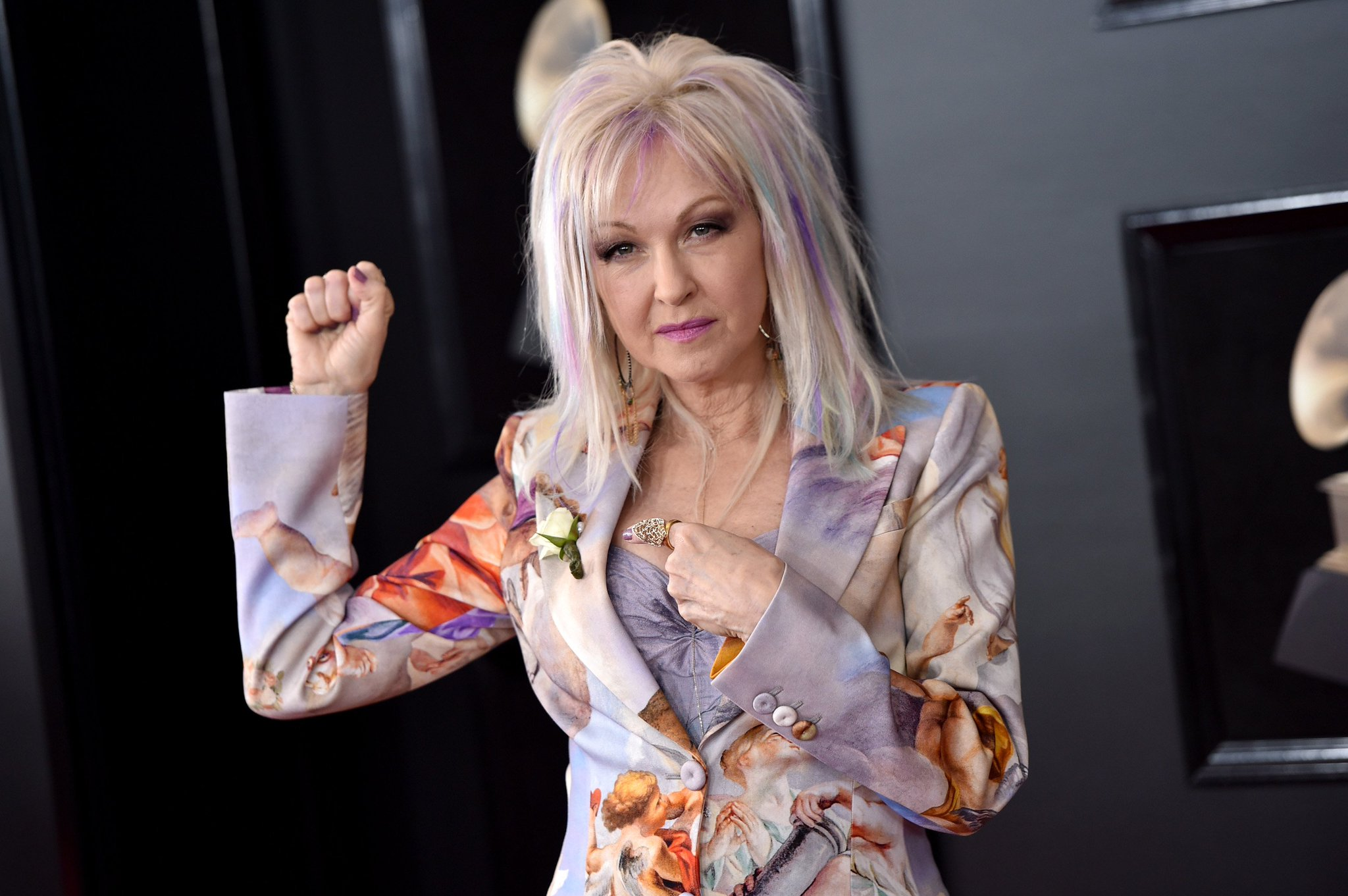 """""""Women make up 51% of the work force, and it's about time we get paid equal."""" #CyndiLauper on #TimesUp #GRAMMYs https://t.co/8A0HJd4lu2"""