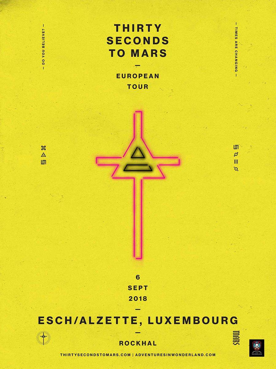 MARS kënnt an Lëtzebuerg, 6 SEPT Esch/Alzette! De Verkaf geet den 2 FEB ab 9AM lass: https://t.co/QxUYNTqjv0 https://t.co/Nyu5lUUHFJ