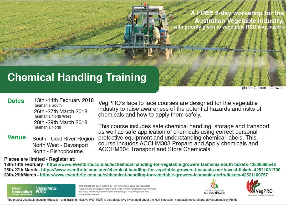 FREE 2-day Chemical Handling Training (ChemCert)...