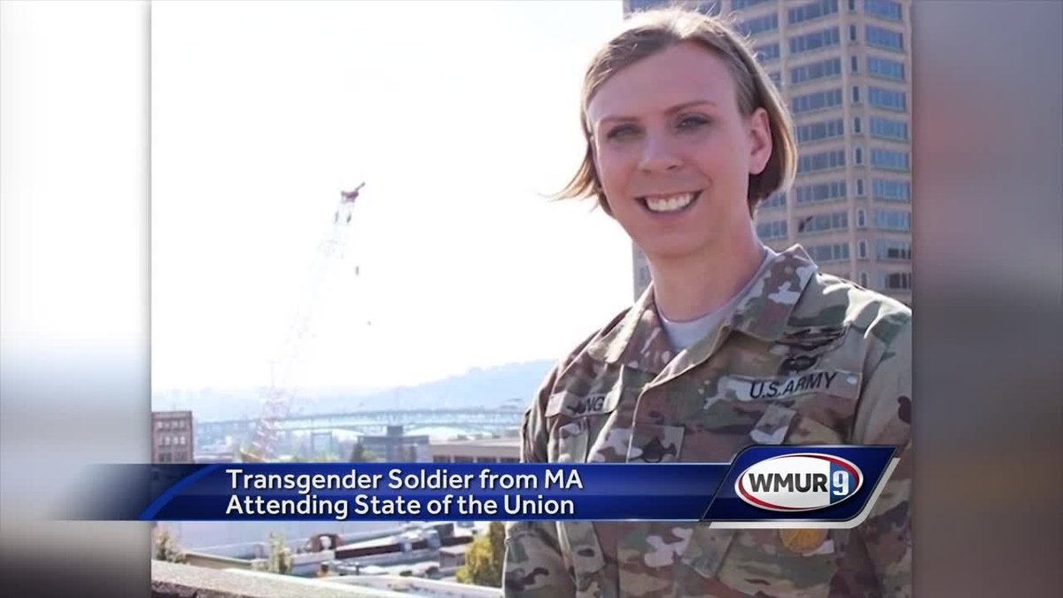 Transgender soldier from Mass. attending State of the Union