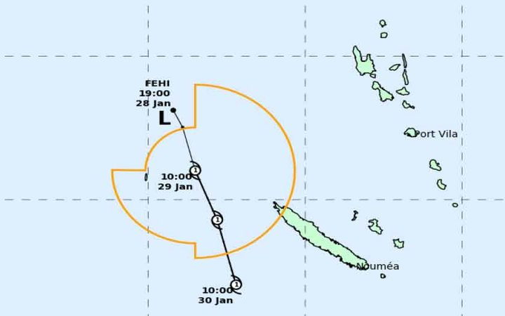 Category 1 cyclone off New Caledonia