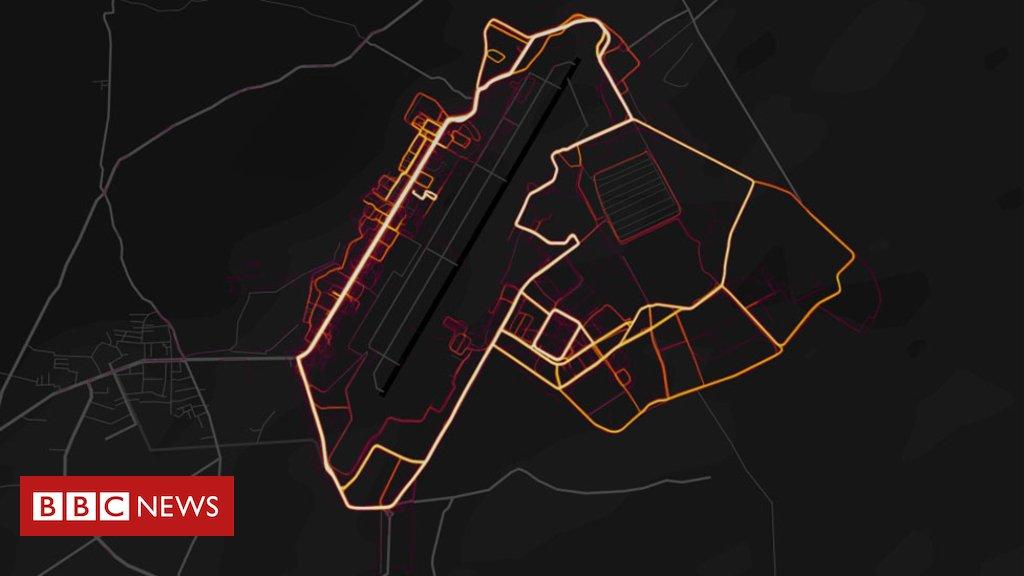 Fitness tracker Strava lights up military base