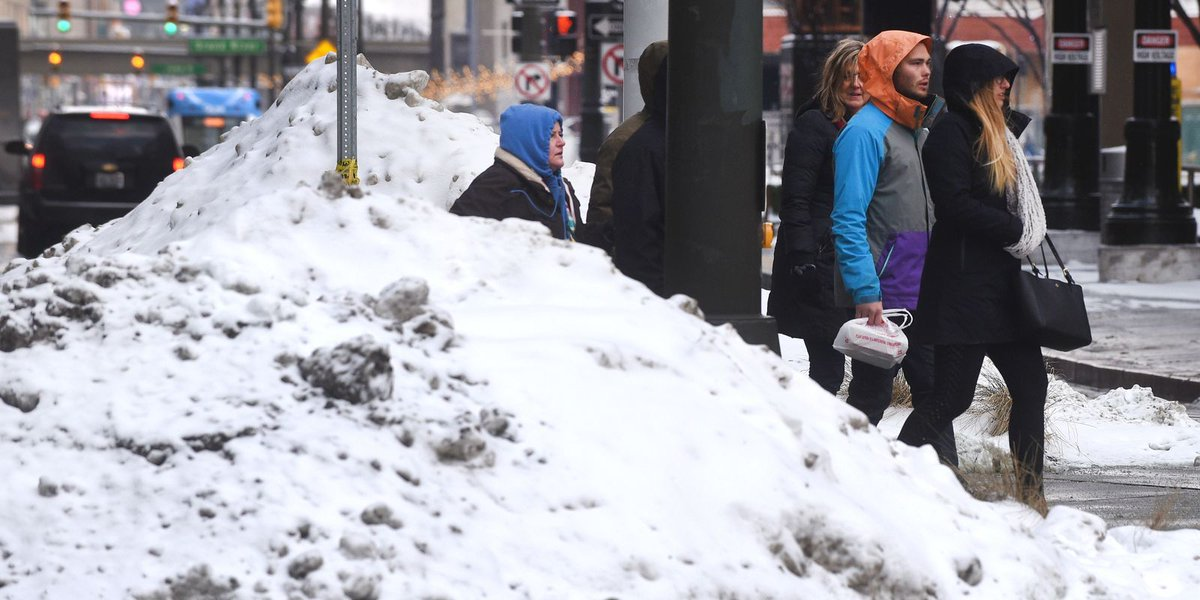 Snow, then warm, then 'winter comes back in full force'