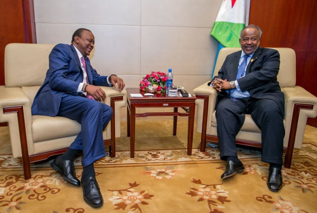 President Kenyatta meets Djibouti leader; trade, security key issues